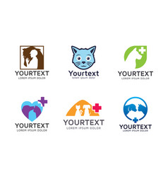collection pet logo vector image