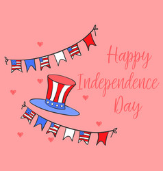 Collection style independence day card vector