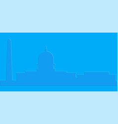 Colored washington cityscape vector