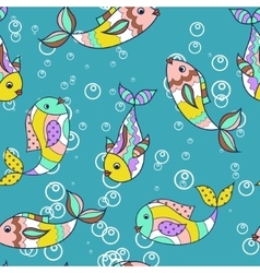 Colorful pattern with fish vector