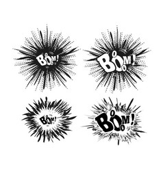 comic speech bubble stars explosion vector image