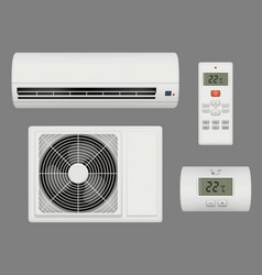 Conditioner realistic air ventilation purifier vector