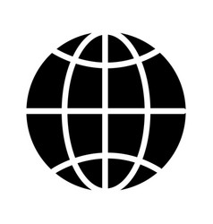 contour global symbol to earth planet vector image