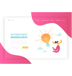 creative idea and business solutions landing page vector image