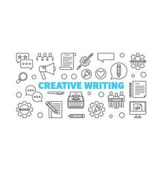 creative writing line minimal horizontal vector image