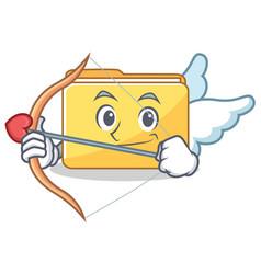 Cupid folder character cartoon style vector