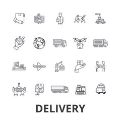 delivery food free delivery courier truck vector image