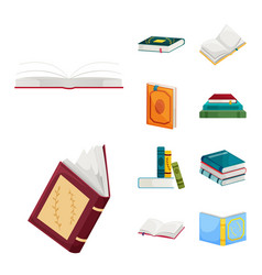 design of library and bookstore symbol vector image