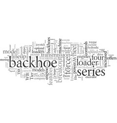 different types backhoe loaders vector image