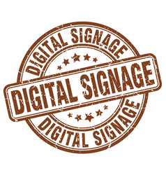 Digital signage brown grunge stamp vector