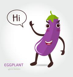 eggplant cartoon vector image