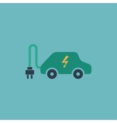 Electric car flat icon vector image