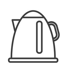 electric kettle simple food icon in trendy line vector image