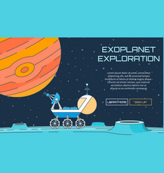 Exoplanet exploration background vector