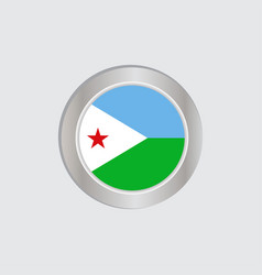 Flag djibouti is isolated on official vector