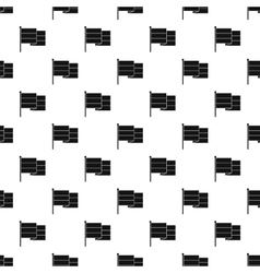Flag pattern simple style vector