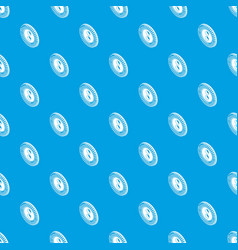 flower clothes button pattern seamless blue vector image