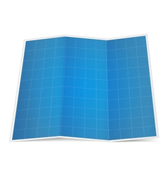 Folded blueprint paper vector