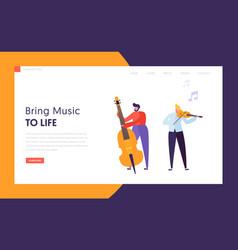 Fun jazz performance concept landing page vector