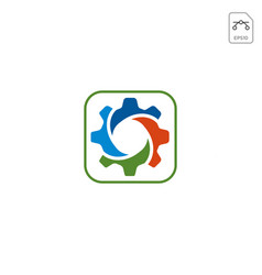 gear logo design abstract business isolated vector image