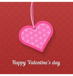 Happy Valentines day greating card vector
