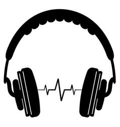 headphone headset icon simple style headphones vector image