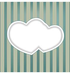 hearts retro background vector image