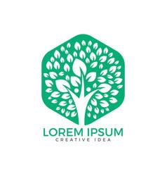 human tree logo design vector image