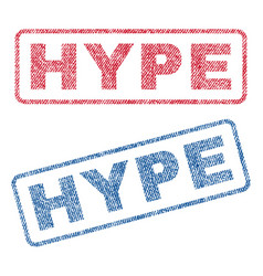 Hype textile stamps vector