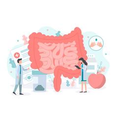 Intestine health concept vector