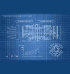 Jet engine in a outline style industrial vector