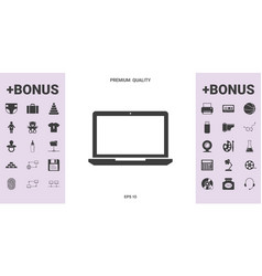 laptop icon symbol vector image