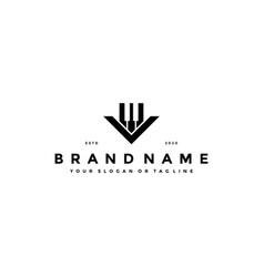 Letter v piano logo design vector