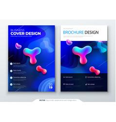 liquid color cover set fluid shapes composition vector image