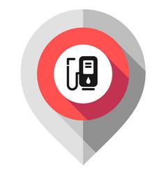 map pin filling station symbol gps pointer folded vector image