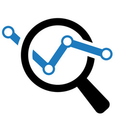 Market research icon symbol vector