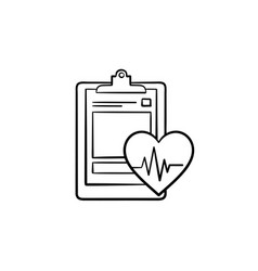 Medical record hand drawn outline doodle icon vector