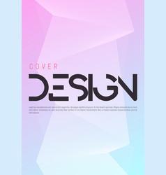 minimalist gradient geometric cover design vector image
