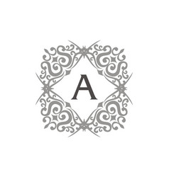 modern letter a vector image