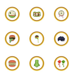 monster icons set cartoon style vector image vector image