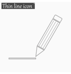 Pen icon Style thin line vector image
