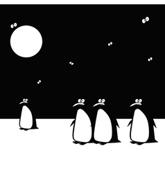 penguins funny vector image