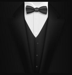 realistic black suit photorealistic 3d mens vector image