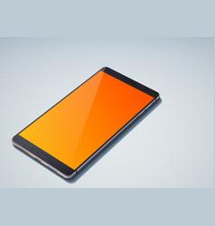 Realistic modern design cellphone concept vector