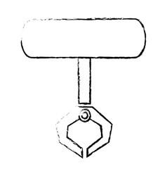 Robotic claw industrial machine equipment icon vector
