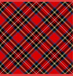 royal stewart modern tartan plaid argyle pattern vector image
