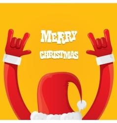 Santa claus rock n roll icon vector