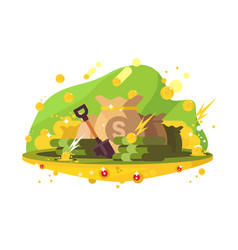 searching money treasure vector image