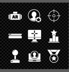 Set ar augmented reality premium create account vector