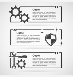 Set of quotes templates vector